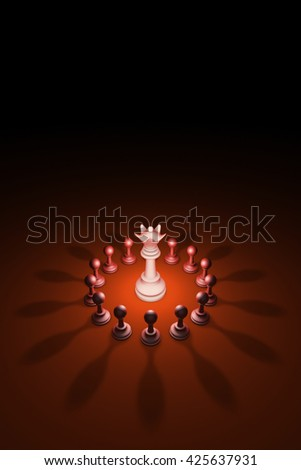 Standing Out from the Crowd. Available in high-resolution and several sizes to fit the needs of your project. 3D rendering illustration. - stock photo