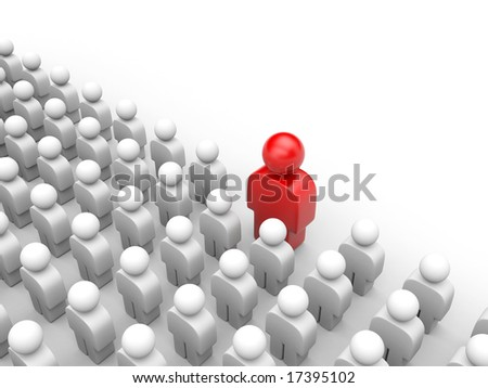 Standing out from the crowd. Different concept - stock photo