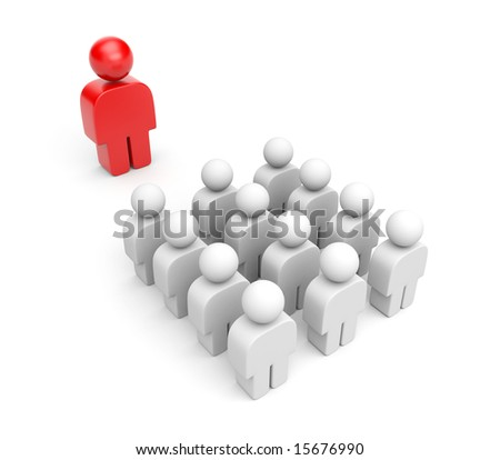Standing out from the crowd. Leader concept - stock photo