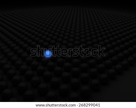 Standing out from the crowd or leader concept.  - stock photo
