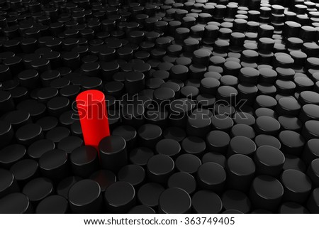 Standing out of the crowd concept - stock photo