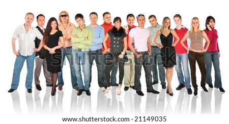 standing people group - stock photo