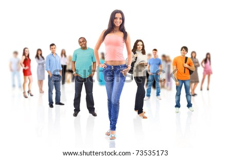 standing people group