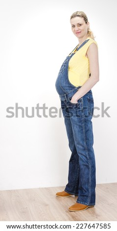 standing pregnant woman - stock photo