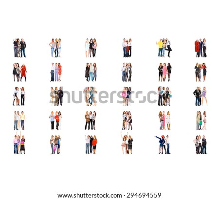 Standing Together Business Picture  - stock photo