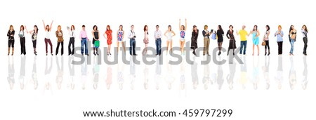 Standing Together on a Glass Floor  - stock photo