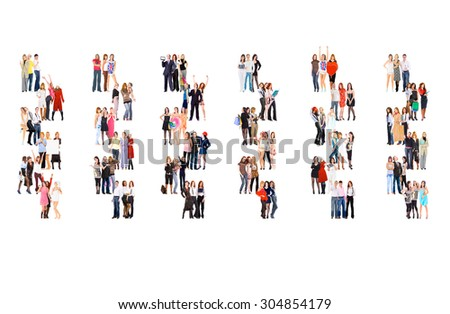 Standing Together Together we Stand  - stock photo