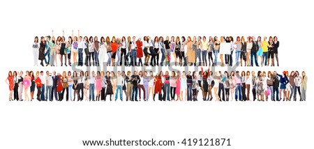 Standing Together United Company  - stock photo