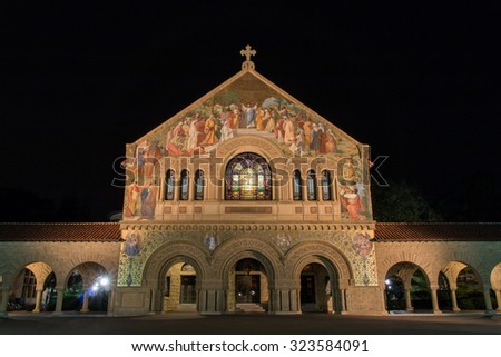 Stanford Memorial Church, Palo Alto, CA - stock photo