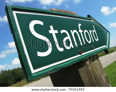 STANFORD road sign - stock photo