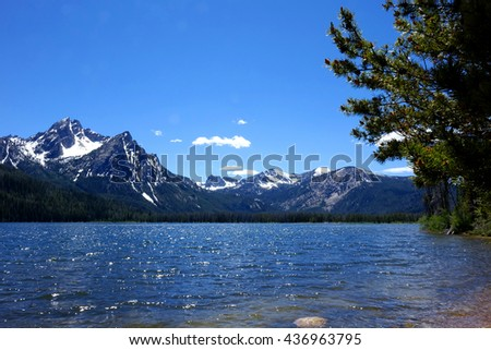 Stanley Lake and Mt. McGowan are located in Idaho's beautiful and rugged Sawtooth Mountains.
