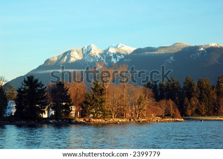stanley park and grouse mountain