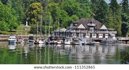 Stanley Park, and Vancouver Waterfront, Canada - stock photo