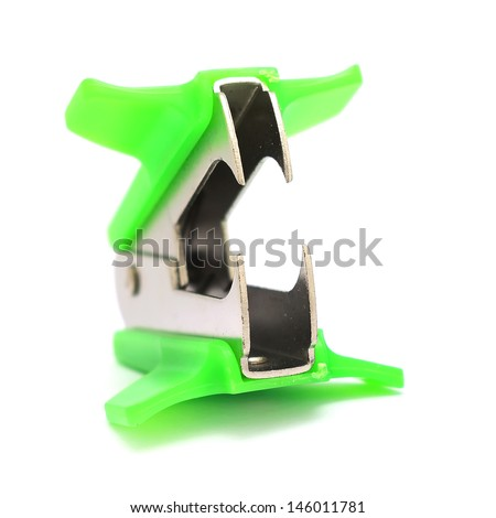 staple remover isolated on white background - stock photo