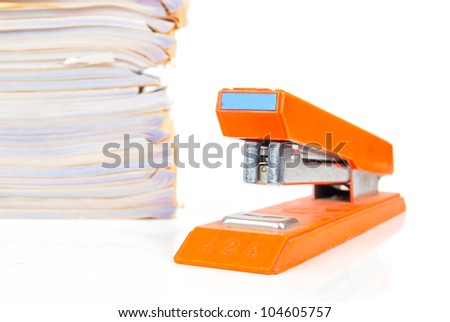 Stapler and document