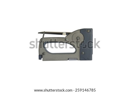 stapler isolated on white background - stock photo