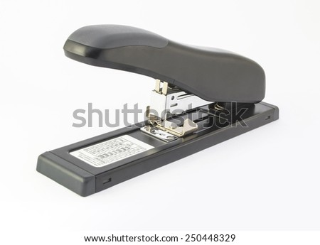 stapler white background,isolated picture,big size - stock photo