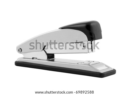 Stapler with clipping path - stock photo