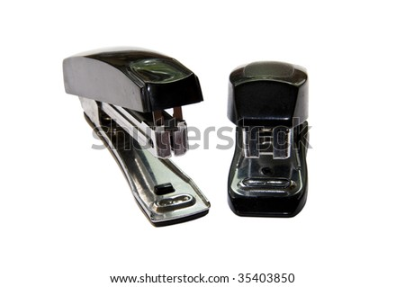 Staplers isolated on the white
