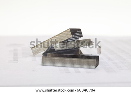 Staples isolated on white background - stock photo