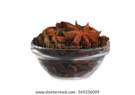 star anis ( Illicium anisatum) isolated on white background