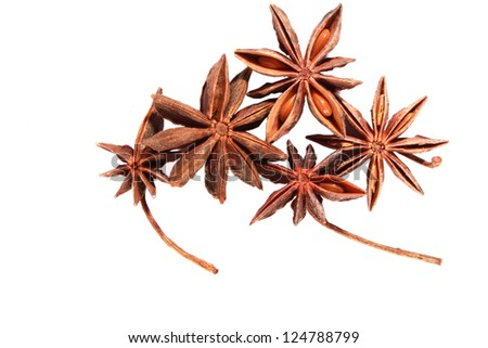 Star anise isolated on the white - stock photo