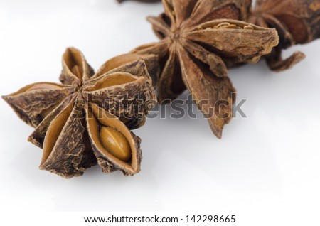 Star anise, star anise, badiane or Chinese star anise (Illicium verum Hook.f.)