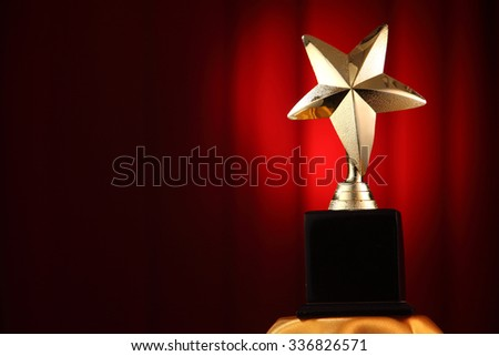 star award in front of stage - stock photo