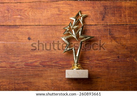star award with space for text on white background - stock photo