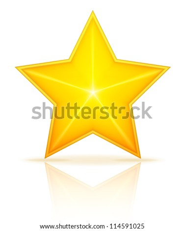 Star bitmap copy - stock photo