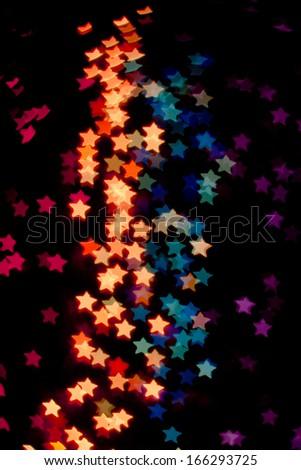 Star bokeh from Christmas light  - stock photo
