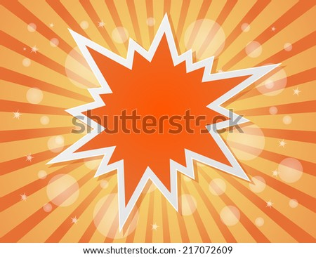 star burst abstract background - concept - stock photo