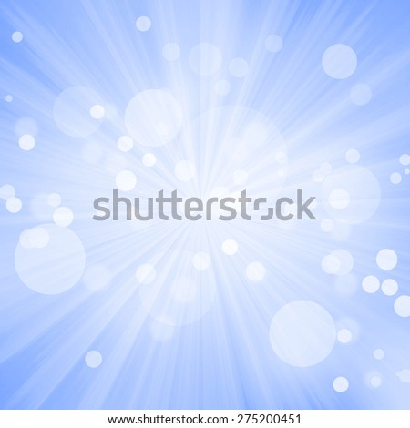 Star Burst With Bokeh Background - stock photo