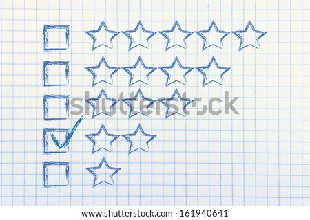 star chart to evaluate a performance, give feedback