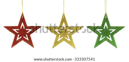 star christmas decorations isolated - stock photo