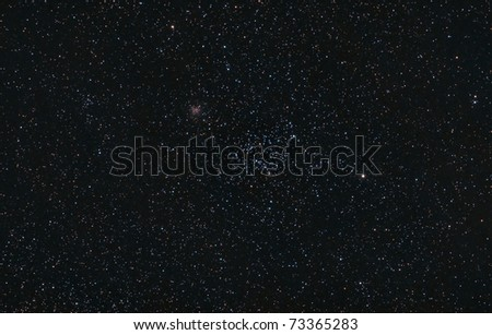 Star Clusters M35 and NGC 2158 - stock photo