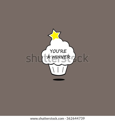 Star Cupcake - You're a Winner - stock photo