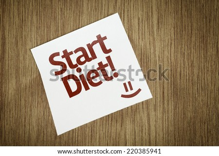 Star Diet on Paper Note with texture background - stock photo