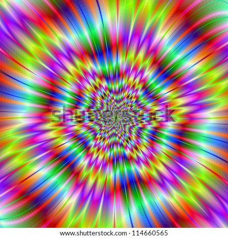Star Explosion/Digital abstract image with a colorful explosion star design in green, blue, pink, yellow, and red. - stock photo