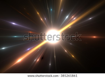 Star explosion with particles - stock photo