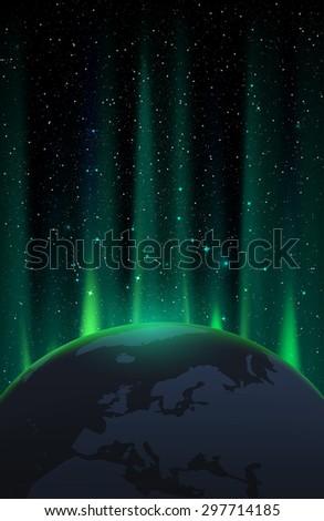 Star field - stock photo