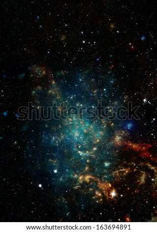 "Star field in space, a nebulae and a gas congestion. ""Elements of this image furnished by NASA"". - stock photo"
