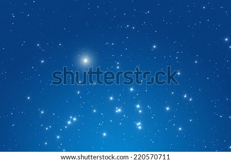Star field in the Milky Way.