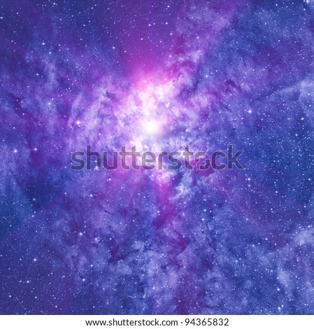 Star forming region - stock photo