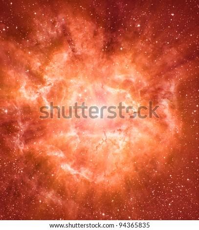 Star forming region - stock photo