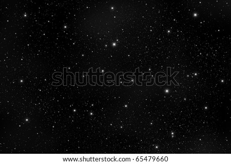 star in The dark Galaxy. - stock photo