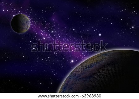 Star in the space, Astronomy concept