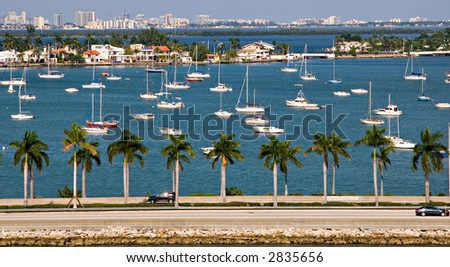 Star Island Sail Boats - stock photo