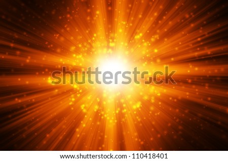 star light with dark yellow background