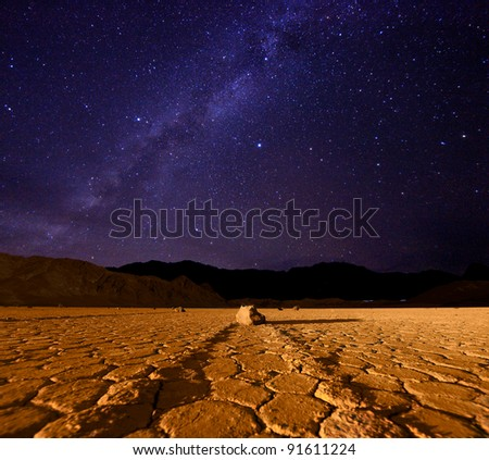 Star Milky Way Formation in Death Valley California - stock photo